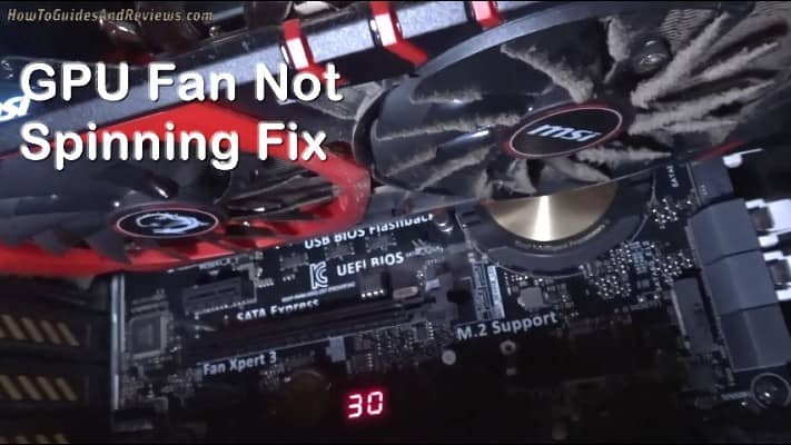 graphics card fans not spinning
